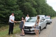 Ставропольские автоинспекторы оказали помощь беременной женщине изОрловской области