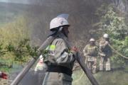 НаСтаврополье отудара молнии загорелся жилой дом